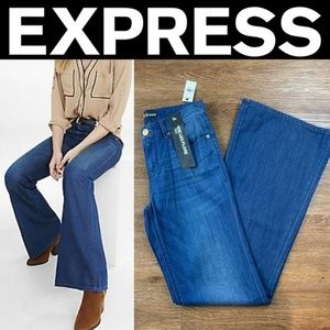 NEW EXPRESS LIGHTWEIGHT WIDE LEG FLARE JEANS